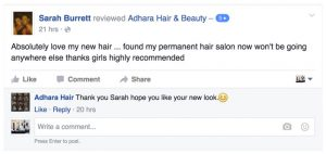 Adhara Hair Salon Reviews Sarah