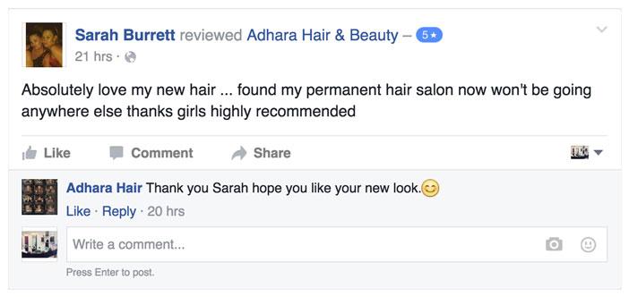 Adhara Hair Salon Reviews Sarah