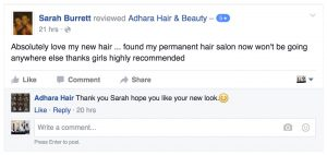 Adhara FB Reviews Sarah