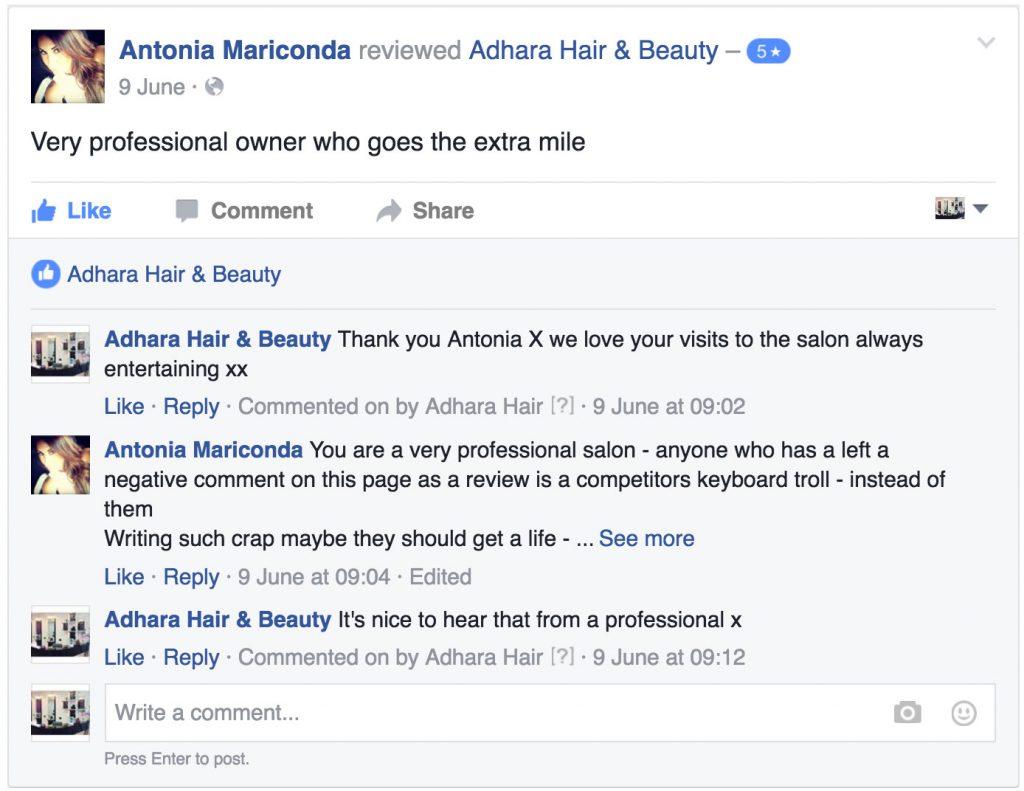 Adhara Hair Salon Reviews Antonia