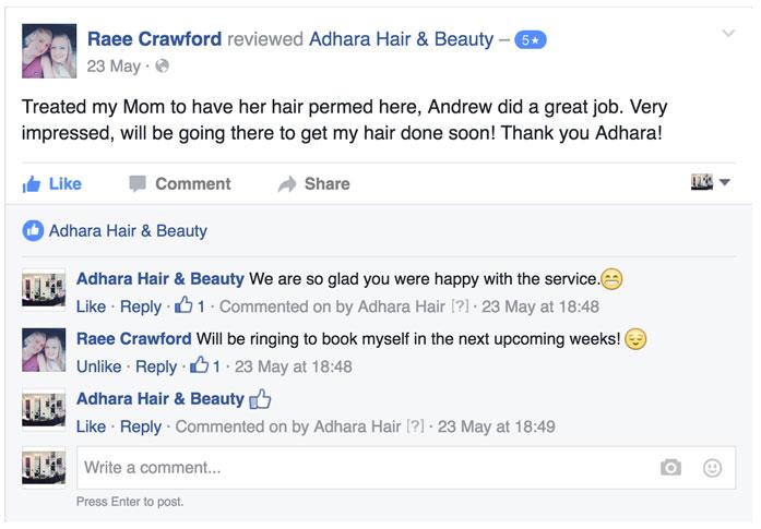 Adhara Hair Salon Reviews
