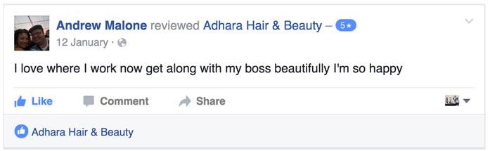 Adhara FB Review Andrew