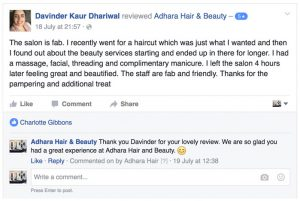 Adhara Hair Salon Reviews Davinder