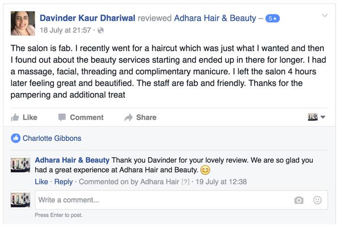 Adhara Hair Salon Reviews Davinder