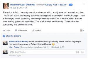 Adhara FB Reviews Davinder