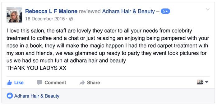 Hair Salon FB Review
