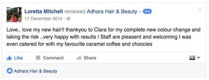 Adhara Hair Salon Reviews Loretta