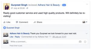 Adhara Hair Salon Reviews Gurpreet