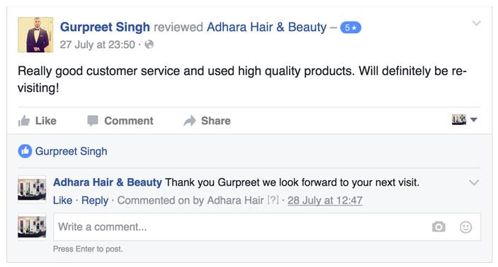 Adhara Hair Salon Reviews Gurpreet
