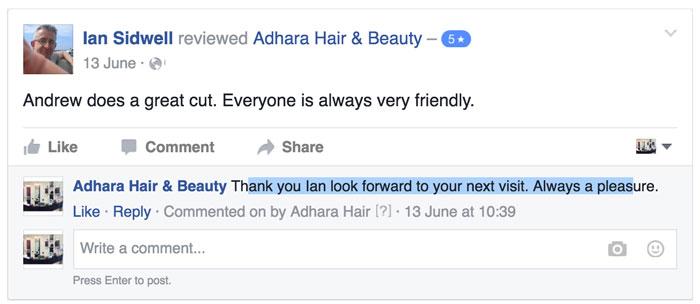 Adhara Hair Salon Reviews Ian