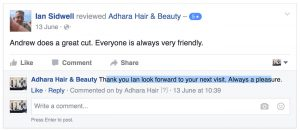Adhara FB Reviews Ian