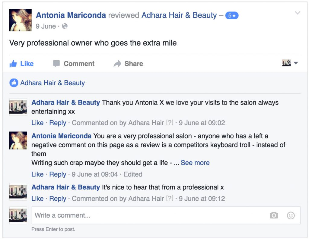 Adhara FB Reviews Antonia