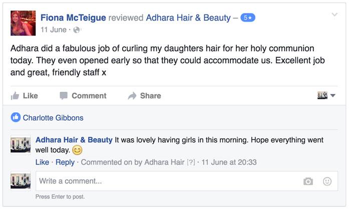 Adhara Hair Salon Reviews Fiona